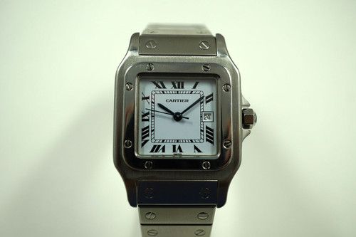 CARTIER SANTOS STAINLESS STEEL AUTOMATIC DATES 1980'S