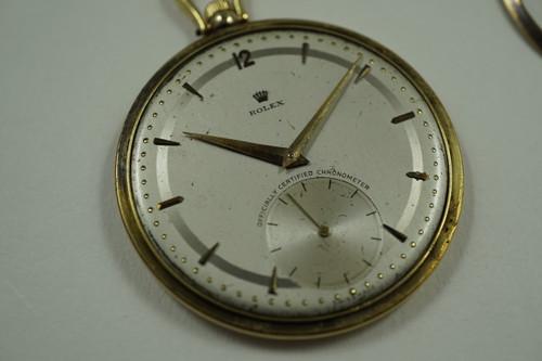 ROLEX 4503 RARE 18K POCKET WATCH CHRONOMETER DATES 1950'S