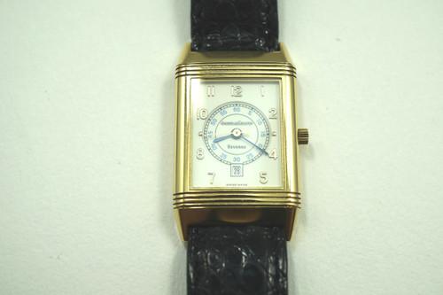 JAEGER LeCOULTRE 250.1.11 REVERSO 18K YELLOW GOLD w/DATE QUARTZ C.2000'S