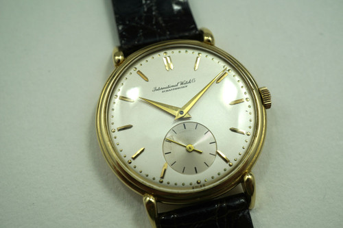 IWC DRESS WATCH VINTAGE 18K DATES 1945-50