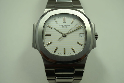 PATEK PHILIPPE 3800/1 NAUTILUS STAINLESS STEEL w/BOX & PAPERS WHITE DIAL C.1994