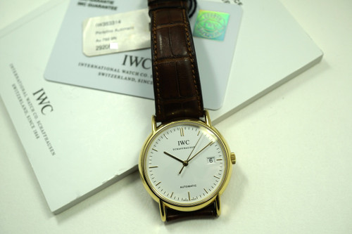 IWC IW3533-14 PORTOFINO AUTOMATIC 18K w/BOX AND PAPERS C.2012