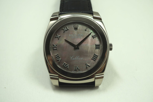 ROLEX 5330 CELLINI 18K WHITE GOLD MOTHER OF PEARL DIAL C.2007