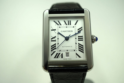 CARTIER W5200027 TANK SOLO XL STAINLESS STEEL AUTOMATIC DATE