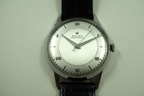 ROLEX 9022 VINTAGE STAINLESS STEEL DRESS WATCH w/SWEEP SECOND C.1956