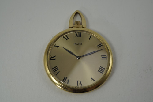 Piaget Pocket Watch 18k yellow gold thin design dates 1960's