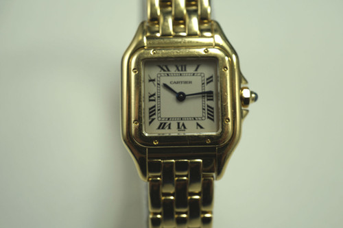 CARTIER W25022B9 PANTHER 18K LADIES w/BOX DATES 2000'S