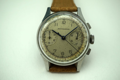 WITTNAUER CHRONOGRAPH STAINLESS STEEL DATES 1940'S
