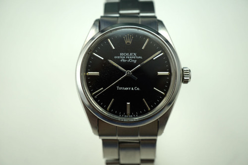 ROLEX 5500 AIRKING TIFFANY AND Co. DATES 1977