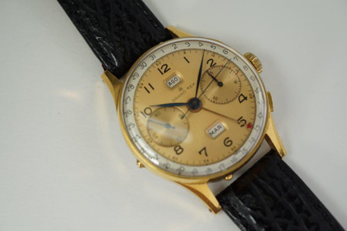 Angelus Chronodate Calendar Chronograph grand rex dates 1950's for sale houston fabsuisse
