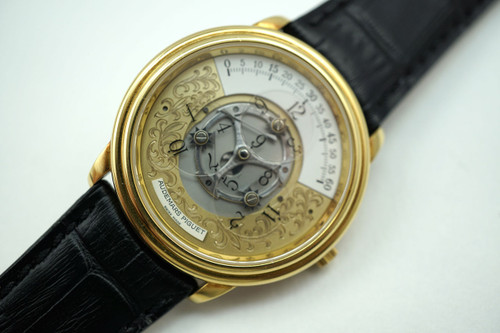 AUDEMARS PIGUET STAR WHEEL AUTOMATIC 18K YELLOW GOLD DATES 1992 PRE-OWNED FOR SALE HOUSTON FABSUISSE