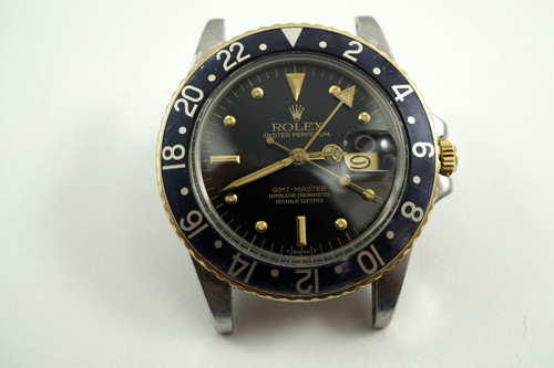 Rolex 16753 GMT steel & 18k yellow gold c. 1979-80 with book & papers pre-owned for sale Houston Fabsuisse