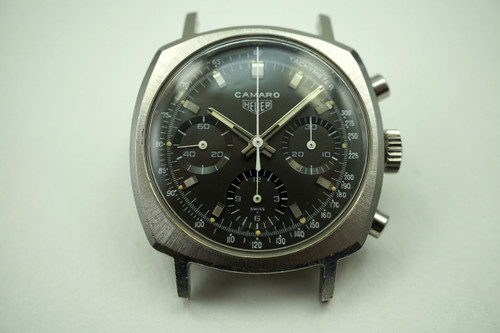 HEUER 722ON CAMARO 3 REGISTER CHRONOGRAPH VALJOUX 72 DATES 1968-70 PRE-OWNED FOR SALE HOUSTON FABSUISSE