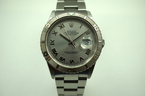 Rolex 16264 Datejust Thunderbird stainless steel c. 2003 pre-owned for sale houston fabsuisse