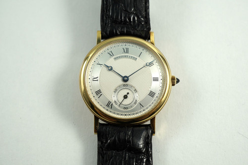 BREGUET CLASSIQUE MANUAL WIND DATE 18K YELLOW GOLD DATES 1990'S PRE-OWNED FOR SALE HOUSTON FABSUISSE