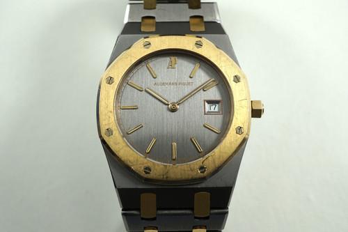 AUDEMARS PIGUET D9154 ROYAL OAK ROSE GOLD & TANTALUM w/DATE C.1990'S PRE-OWNED FOR SALE HOUSTON FABSUISSE