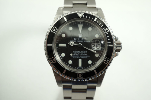 Rolex 1680 Submariner stainless steel service dial c.1977 vintage for sale Houston pre-owned Fabsuisse