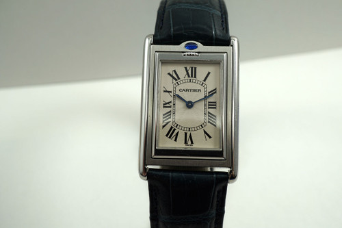 Cartier W1011358 Tank Basculante large steel reverso c. 2000's for sale pre owned houston fabsuisse