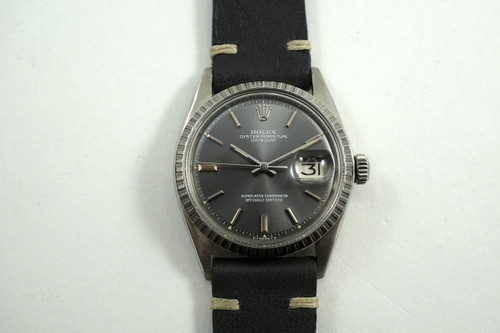 ROLEX 1603 DATEJUST ORIGINAL GREY SIGMA DIAL STAINLESS STEEL, SERVICED C 1971 AUTOMATIC FOR SALE HOUSTON FABSUISSE