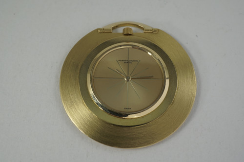 Vacheron & Constantin 6345 knife edge Pocket Watch 18k original dates 1960-65 for sale houston fabsuisse