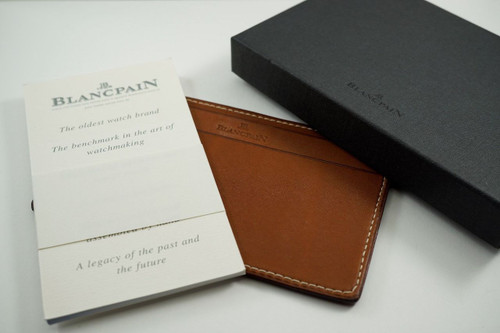 Blancpain Leather notepad, wallet or billfold dates 2000's pre-owned for sale Houston Fabsuisse