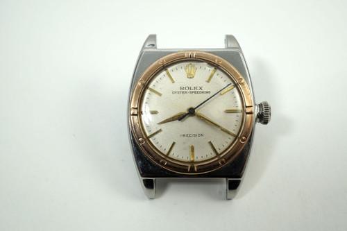 Rolex 3359 Viceroy Pink 7 steel Chronometer rare dates 1945 vintage all original pre owned for sale houston fabsuisse