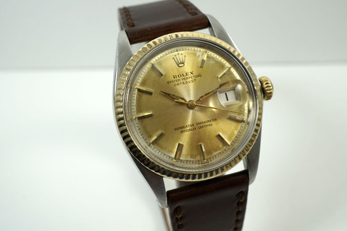 Rolex 1601 Datejust tutone early cool original patina dial dates 1966 for sale houston fabsuisse