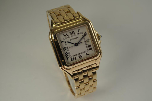 Cartier 1060 Panther 18k yellow gold large size w/ date Cartier box c. 2000's for sale houston fabsuisse