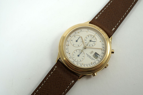 Audemars Piguet 25644.002 Huitieme chronograph 18k rose gold c.1990's automatic for sale houston fabsuisse