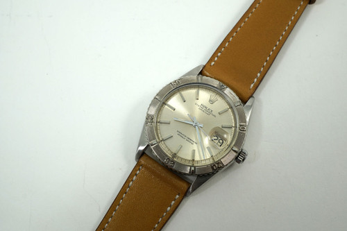 Rolex 1625 Thunderbird Datejust stainless steel dates 1966 automatic vintage pre owned for sale houston fabsuisse