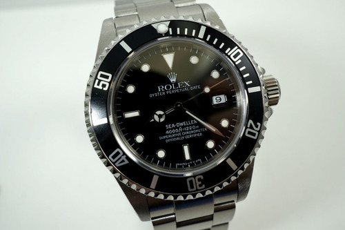"Rolex 16660 Sea dweller stainless steel box & papers ""T"" series 1995 for sale houston fabsuisse"