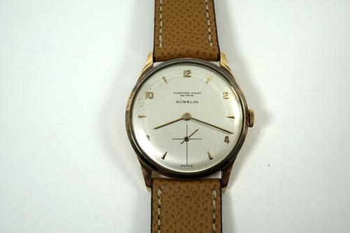 Audemars Piguet 18k rose gold retailed by Gubelin dates 1948 vintage pre owned for sale houston fabsuisse