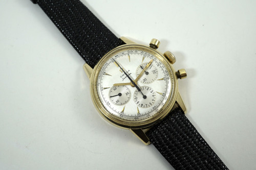 Omega 2884 Seamaster Chronograph solid 14k yellow gold cal. 321 dates 1956