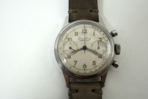 Breitling Premier Chronograph 790 stainless steel 1945 pre owned vintage for sale houston fabsuisse