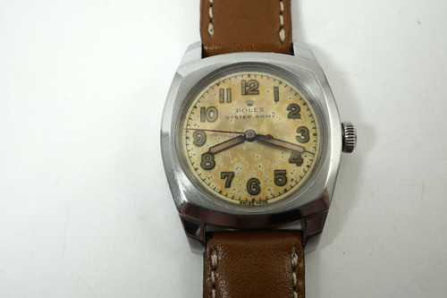 Rolex 3139 Army stainless steel original dial dates 1943 vintage pre owned for sale houston fabsuisse