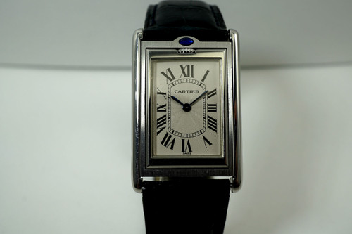 Cartier W1011358 Basculante Reverso 2390 large mechanique stainless steel c. 2000's pre owned for sale houston fabsuisse