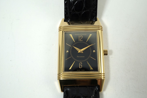 Jaeger LeCoultre 250.2.86 Reverso 18k rose gold classic art deco 1990's pre owned for sale houston fabsuisse