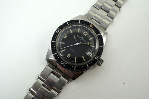 Baume Mercier Skin Divers Watch automatic vintage stainless steel c 1960-70's pre owned for sale houston fabsuisse