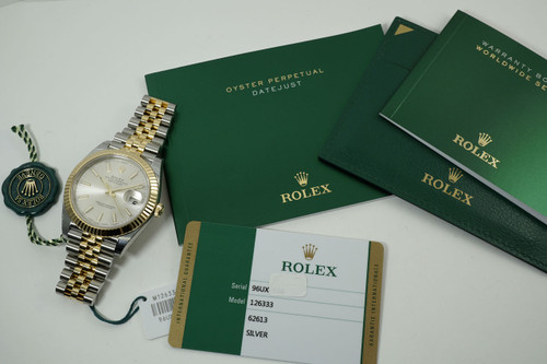 Rolex 126333 Datejust steel & yellow gold w/ box, card, books and tags unworn c. 2017 pre owned for sale houston fabsuisse