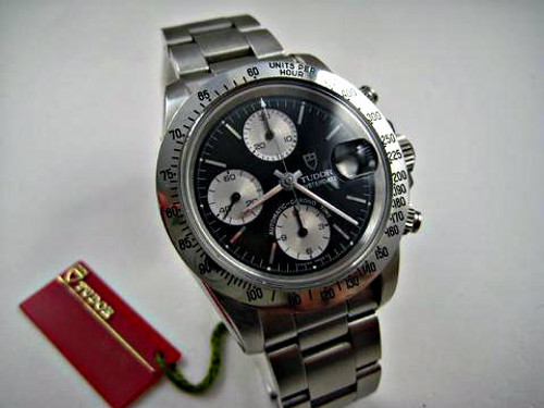 Tudor 79180 Chronograph stainless steel w/ original box, papers and tags for sale houston fabsuisse
