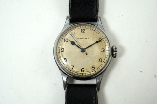 Longines 6B/159 RAF Pilots Watch navigation WWII sweep second c. 1940's stainless steel for sale houston fabsuisse