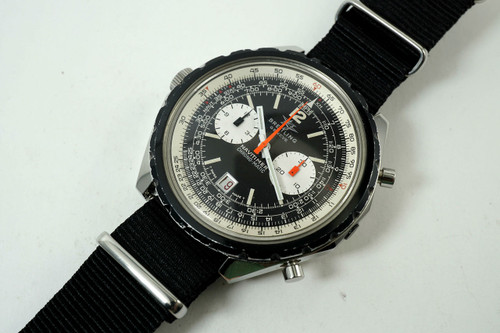 Breitling 1806 Navitimer Chronomatic stainless steel c. 1969 vintage pre owned for sale houston fabsuisse
