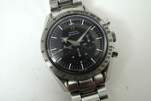 Omega 145.0222 Broad Arrow Speedmaster modern pre owned stainless steel c. 2000's for sale houston fabsuisse
