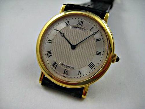 Breguet 2375 A, 18k yellow gold automatic dates 1990's pre owned for sale houston fabsuisse