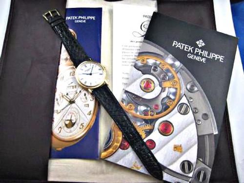 PATEK PHILIPPE 3802/200 18K YELLOW GOLD DRESS WATCH