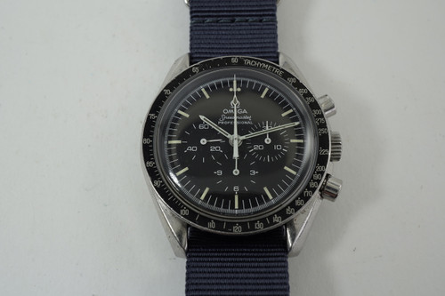Omega 145022 Speedmaster Man on the Moon Chronograph Professional steel c. 1976 all original vintage pre owned for sale houston fabsuisse