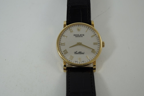 Rolex 5115 Cellini classic 18k yellow gold  modern watch great condition dates 2007 pre owned for sale houston fabsuisse