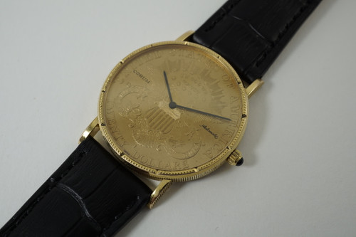 Corum $20 U.S. Liberty Coin Watch Automatic dates 1990's modern automatic watch for sale houston fabsuisse