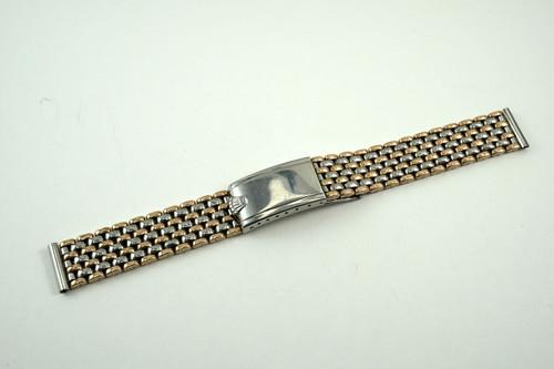 Rolex pink \u0026 steel beads of rice bracelet fits bubbleback