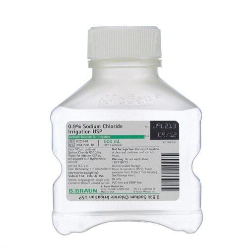 Sodium Chloride 0.9% (Btl) 500ml Bottle